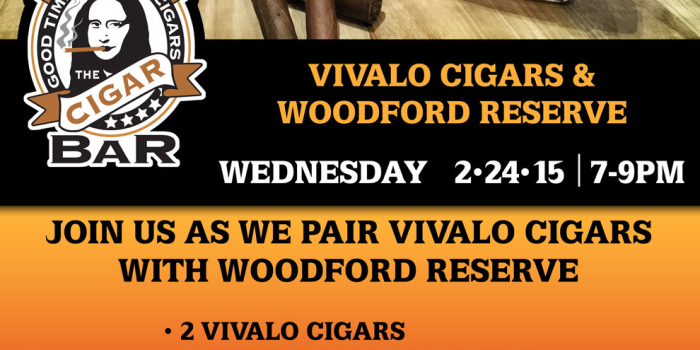 Vivalo Cigars and Woodford Reserve