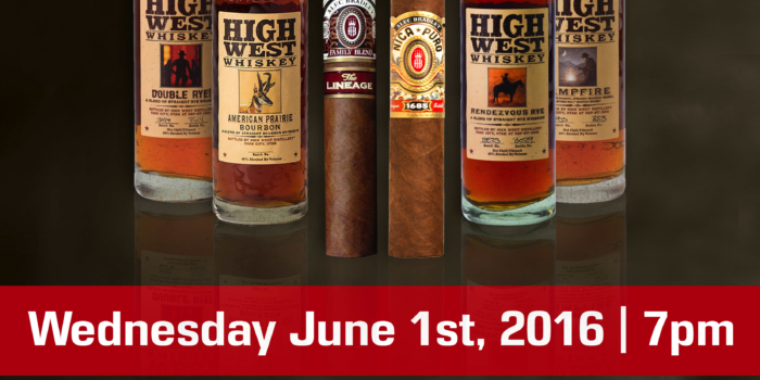 Flight Night Whiskey Wednesday featuring Alec Bradley & High West Whiskey