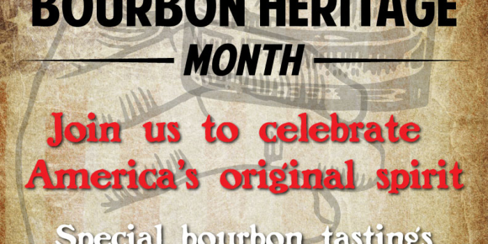 September is Bourbon Heritage Month.