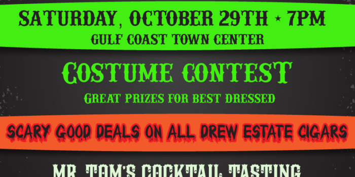 """World Famous"" Cigar Bar Annual Halloween Party featuring Drew Estate Cigars"