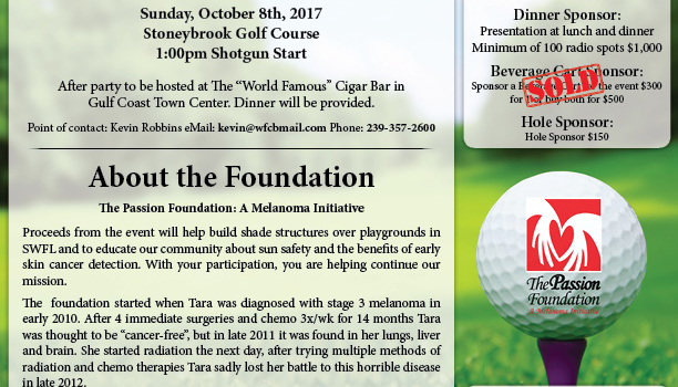 """World Famous"" Cigar Bar Charity Golf Tournament for The Passion Foundation"