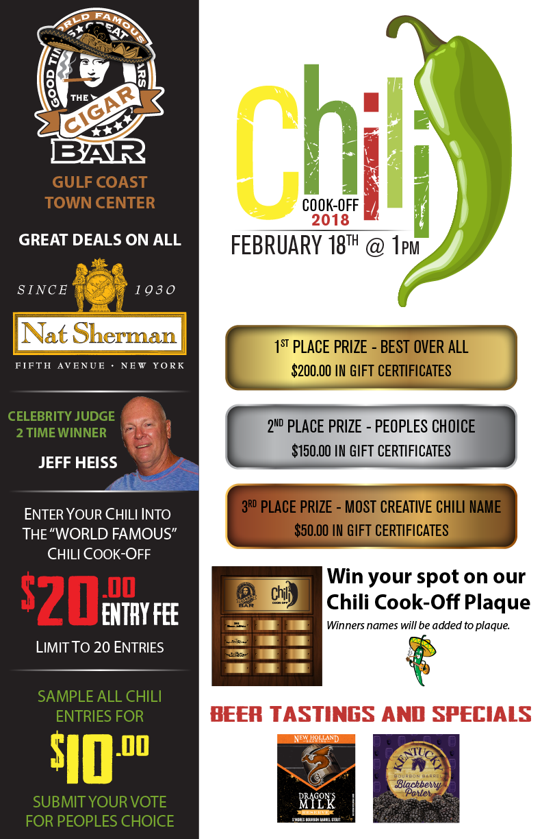 Chili cook off featuring nat sherman cigars cigars fort myers chili cook off featuring nat sherman cigars xflitez Choice Image